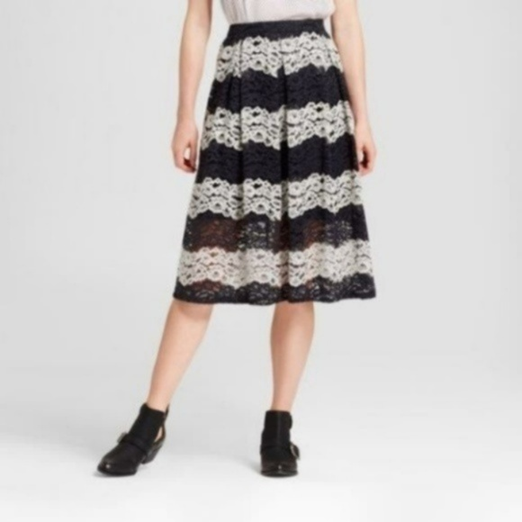 Who What Wear Dresses & Skirts - Who What Wear Lace Midi Skirt #SK110